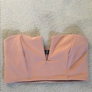 NWOT Misguided Light Pink Bralette Top - size 6
